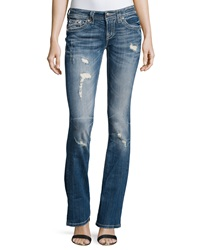 Miss Me Distressed Signature Rise Boot Cut Jeans Med 198