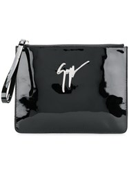 Giuseppe Zanotti Design Classic Clutch Patent Leather Black