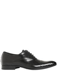 Eveet Embossed Patent And Leather Oxford Shoes Black