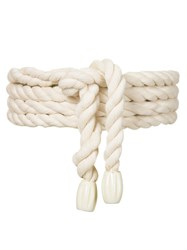 Lilly Sarti Rope Belt Women Cotton One Size Nude Neutrals
