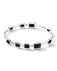 Ippolita 9 Stone Bangle In Black Onyx Silver