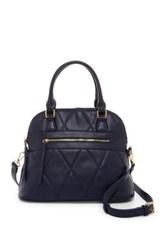 Urban Expressions Duke Vegan Leather Dome Satchel Blue