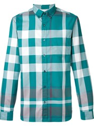 Burberry Brit Checked Shirt Green