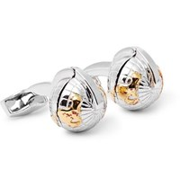 Tateossian Silver Gold And Rhodium Plated Cufflinks Silver