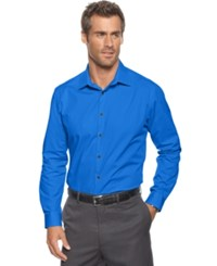 Alfani Men's Pinstripe Long Sleeve Shirt Slim Fit Hyper Blue