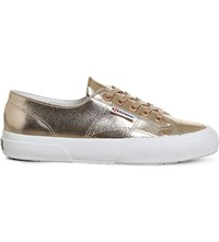 Superga 2750 Cracked Rose Gold Trainers