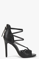 Boohoo Lazer Cut Ghillie Court Black