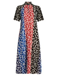 Duro Olowu Nina Contrast Panel Crepe Dress Multi