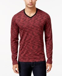Alfani Men's Big And Tall Tri Color Long Sleeve T Shirt Only At Macy's Port Combo