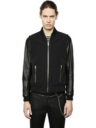 The Kooples Techno Canvas Jacket W Leather Sleeves