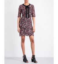 The Kooples Embroidered Floral Print Dress Bla92