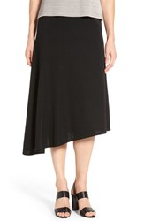 Ming Wang Women's Asymmetrical A Line Knit Skirt