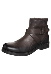 Your Turn Cowboy Biker Boots Dark Brown