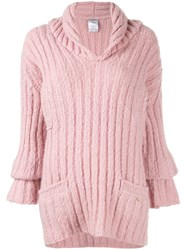 Chanel Vintage Ribbed Knit Jumper Pink