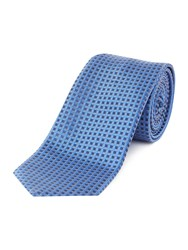 Hugo Textured Diamond Tie Blue
