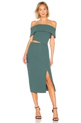 Elliatt Serpentine Dress Green