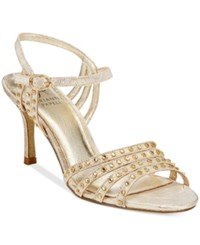 Adrianna Papell Vonia Evening Sandals Women's Shoes Pearl