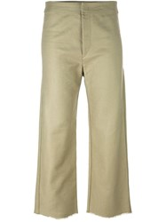 Isabel Marant Frayed Edge Cropped Culottes Nude And Neutrals