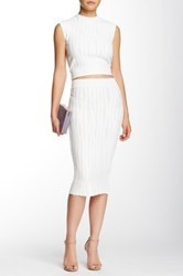 Stella And Jamie Ursula Pencil Skirt White