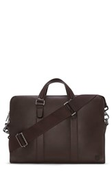 Vince Camuto Dopia Leather Briefcase Brown T Moro
