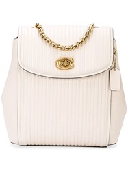 Coach Parker Backpack White