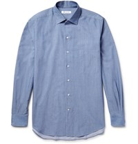 Loro Piana Cotton Chambray Shirt Blue