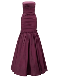 Ariella Couture Burgundy Marilea Strapless Long Gown