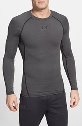 Men's Under Armour Compression Heatgear Long Sleeve T Shirt Carbon Heather Black