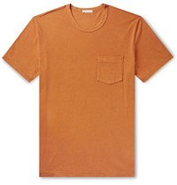 James Perse Combed Cotton Jersey T Shirt Orange