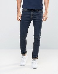 New Look Skinny Jeans With Brown Tint Navy