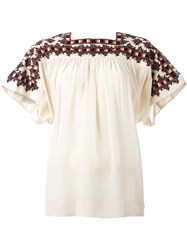 Masscob Square Neck Loose Fit Blouse White
