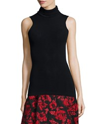 Alice Olivia Sleeveless Fitted Turtleneck Size X Small Black