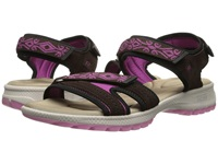Rockport Rocsports Lite Sport Web Quarter Strap Sandal Ebano Suede Women's Shoes Brown
