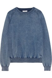 Chloe Denim Effect Cotton Blend Jersey Sweatshirt