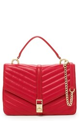Botkier Dakota Quilted Leather Top Handle Bag Red Fire Red