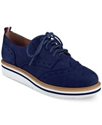 Tommy Hilfiger Women's Kabriele Lace Up Oxfords Women's Shoes Navy