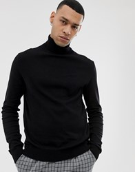 Pier One Jumper With Roll Neck In Black