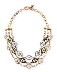 Lulu Frost Gloria Crystal Statement Necklace Gold