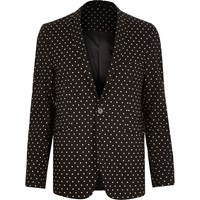 Vito River Island Mens Black Polka Dot Blazer