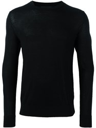 Theory Crew Neck Fine Jumper Black