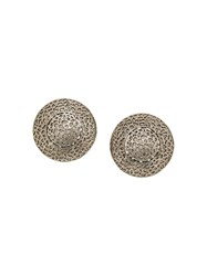 A.N.G.E.L.O. Vintage Cult 1980S Cut Out Button Earrings Silver