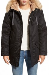 Men's Hoodlamb Water Resistant Hemp And Organic Cotton Hooded Parka With Faux Fur Lining