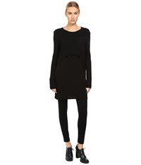 Limi Feu Layered Pop Over Long Sleeve Top Black