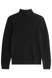 The Kooples Wool Cotton Turtleneck Black