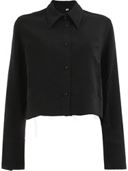 Song For The Mute Cropped Loose Blouse Black
