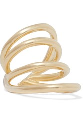 Jennifer Fisher Overlap Circle Gold Plated Pinky Ring One Size