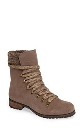 Sole Society Women's Faux Shearling Trim Ada Boot Dark Taupe Suede