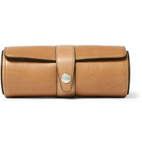 Brunello Cucinelli Grained Leather Watch Roll Tan