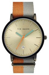 Men's Ted Baker London Nato Strap Watch 40Mm