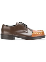 Marni Stitched Toe Derby Shoes Brown
